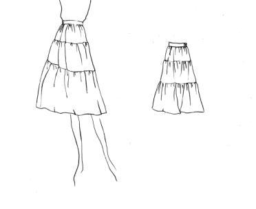 a型服装手绘款式图