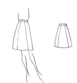 娃娃裙子手绘图